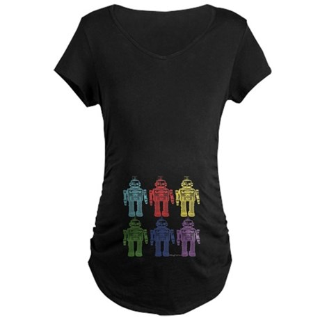 Robots Maternity Dark T-Shirt