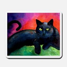 black cat 4 Mousepad
