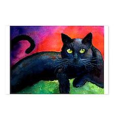 black cat 4 Postcards (Package of 8)