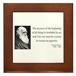 Charles Darwin 7 Framed Tile