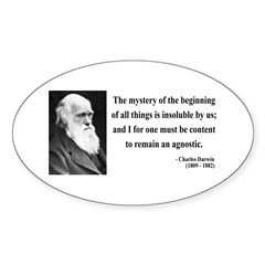 Charles Darwin 7 Oval Sticker