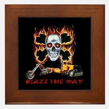 Blaze The Way Framed Tile