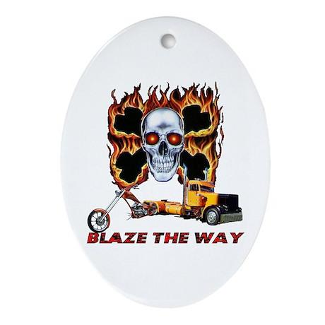 Blaze The Way Oval Ornament