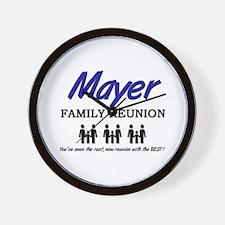 Mayer Family Reunion Wall Clock