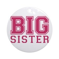 big sister varsity Ornament (Round)