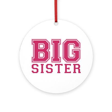 big sister varsity Ornament (Round)