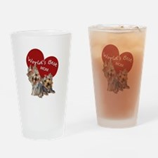 Cute Yorkshire terrier Drinking Glass