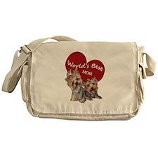 Cute Yorkshire terrier Messenger Bag