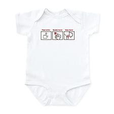 PUSH BUTTON GET BACON Infant Bodysuit