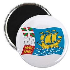 """Saint Pierre & Miquelon Flag 2 2.25"""" Magnet (100 p"""