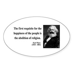 Karl Marx 3 Oval Decal