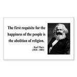 Karl Marx 3 Rectangle Sticker