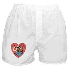 Vintage Raccoon Valentine Boxer Shorts