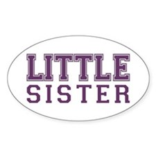 little sister varsity Oval Decal