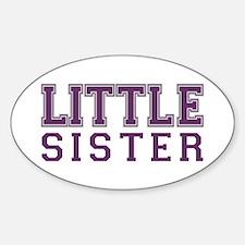 little sister varsity Oval Decal