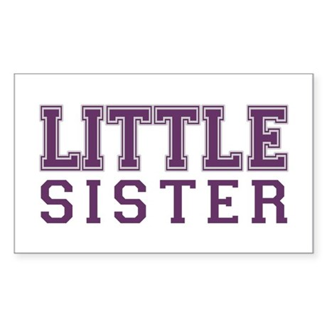 little sister varsity Rectangle Sticker