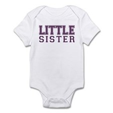 little sister varsity Infant Bodysuit