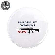 """Ban Assault Weapon 3.5"""" Button (10 pack)"""