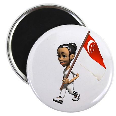 "Singapore Girl 2.25"" Magnet (10 pack)"