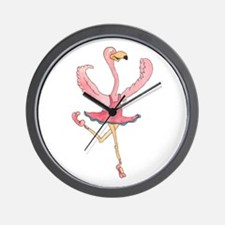 Ballerina Flamingo Wall Clock