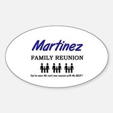 Martinez Family Reunion Oval Decal