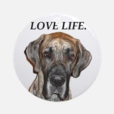 Great Dane Jamie Love Life Ornament (Round)