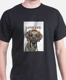 Great Dane Jamie Love Life T-Shirt