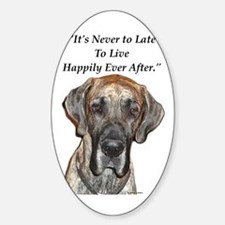 Great Dane Happily Ever After Oval Decal