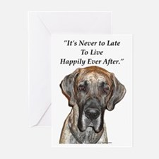 Great Dane Happily Ever After Greeting Cards (Pack