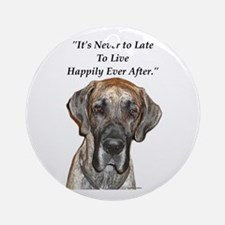 Great Dane Happily Ever After Ornament (Round)