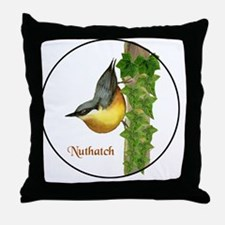 Cute Nuthatch Throw Pillow