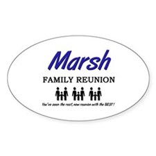 Marsh Family Reunion Oval Decal