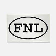 FNL Oval Rectangle Magnet