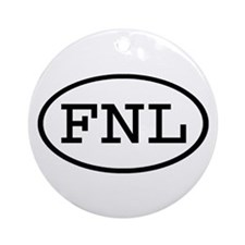FNL Oval Ornament (Round)