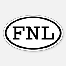 FNL Oval Oval Decal