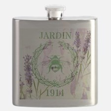 bee lavender french country Flask