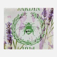 bee lavender french country Throw Blanket
