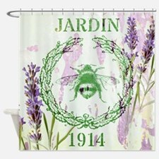 bee lavender french country Shower Curtain