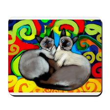 Siamese Cats Mousepad