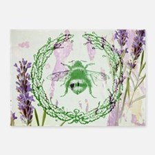 bee lavender french country 5'x7'Area Rug