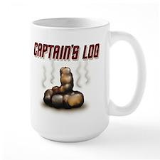 """Captain's Log"" Large Mug/Caffiene Caddy"