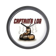 """Captain's Log"" Swell Wall Clock"