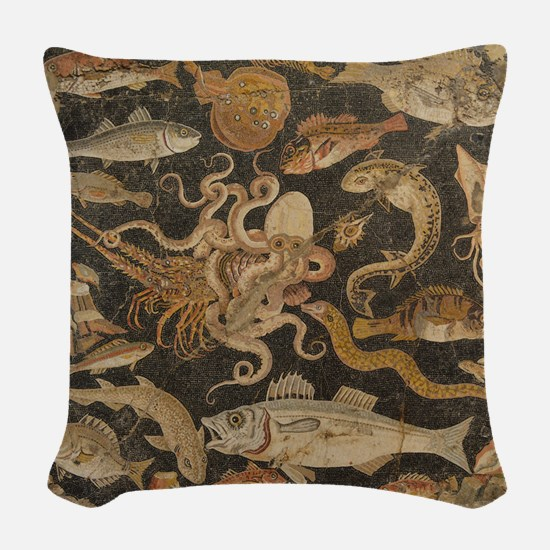 Pompeii Mosaic Woven Throw Pillow
