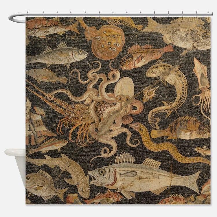 Pompeii Mosaic Shower Curtain