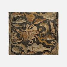 Pompeii Mosaic Throw Blanket