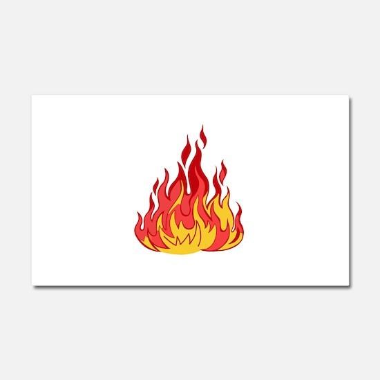 Flames Car Magnets CafePress - Magnetic car decals flames