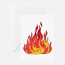 FIRE FLAMES Greeting Cards