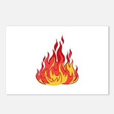 FIRE FLAMES Postcards (Package of 8)