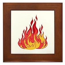 FIRE FLAMES Framed Tile