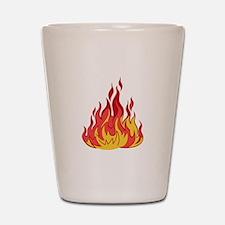 FIRE FLAMES Shot Glass